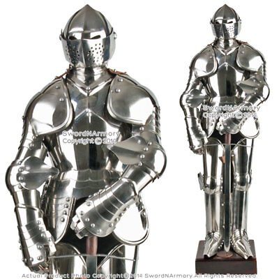 Stainless Steel Mini Duke of Burgundy Suit of Armor Medieval Knight with Sword