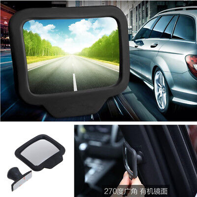 1x Car SUV Baby Rear-view Blind Spot Mirrors Wide Angle Exterior Backseat Mirror Acrylic Double Side Mirror