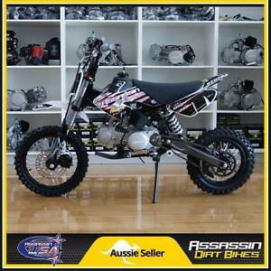 Assassin Dirt Bike A6 White 125cc 12 14 YX Big Bore Pit Caringbah Sutherland Area Preview