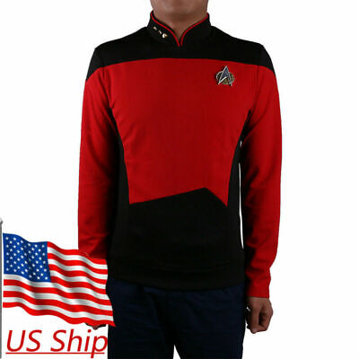Star Trek Shirt Starfleet Command Uniform Cosplay Star Trek TNG Uniform Red New (Star Trek Tng Uniforms)