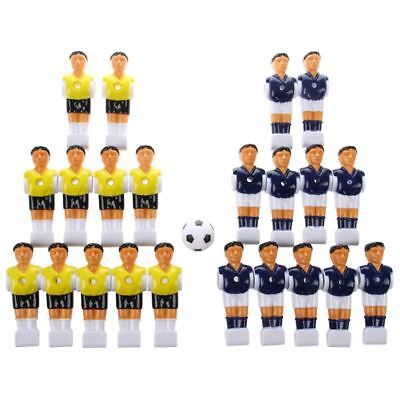 Used, 22pcs Foosball Man Table Guys Man Soccer Player Part Yellow+Royal Blue with A4I9 for sale  Shipping to United States