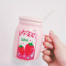 Strawberry Cup Ceramic Japanese Mugs Girl Kawaii Cute Pink Tea Coffee Milk Sweet