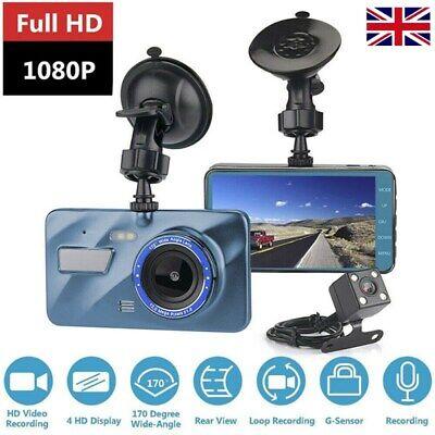"4"" 1080P HD Dual Lens Car DVR Front and Rear Camera Dash Cam Video Recorder"