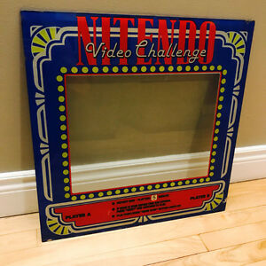 NINTENDO VIDEO CHALLENGE ARCADE MACHINE SILK SCREENED MAQUEE GLA