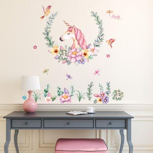 Fairy Unicorn Stars Wall Dot Stickers Decals PVC Cartoon Hom