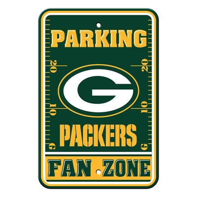 Fan Parking Sign - NFL Green Bay Packers Home Room Office Bar Decor Parking Sign Fan Zone 12