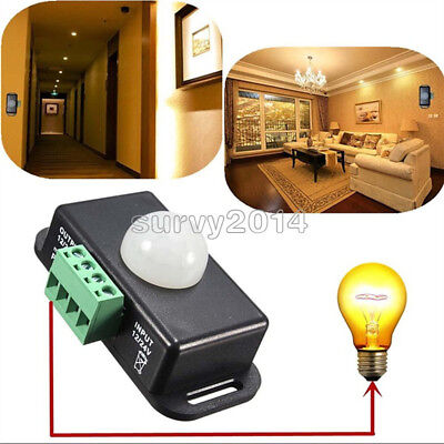 Automatic Dc 12v-24v 8a Infrared Pir Motion Sensor Switch For Led Light Stylish