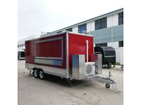 Kebab burgers chips 4.7 m Food trailer with free equipments