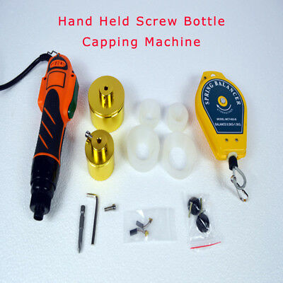 Hand Held Screw Bottle Capping Machine Manual Power Spring Balancer 110v 65kg