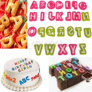 Alphabet moulds cake decorating