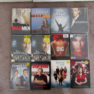 TV Show Season DVD Lot - Dig, Good Wife, Scandal, Mad Men, House