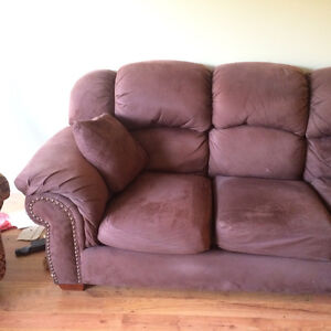 Brown Fabric Lazy Boy Couch 3 Cushions Kitchener / Waterloo Kitchener Area image 2