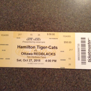 Hamilton Tiger Cat tickets