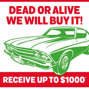 WE BUY CARS IN ANY CONDITION! CASH! Up to $ 1000*!