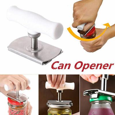 Adjustable Stainless Can Jar Tin Bottle Opener Food Kitchen Tool Anti-slip U5C9X Tin Food Cans