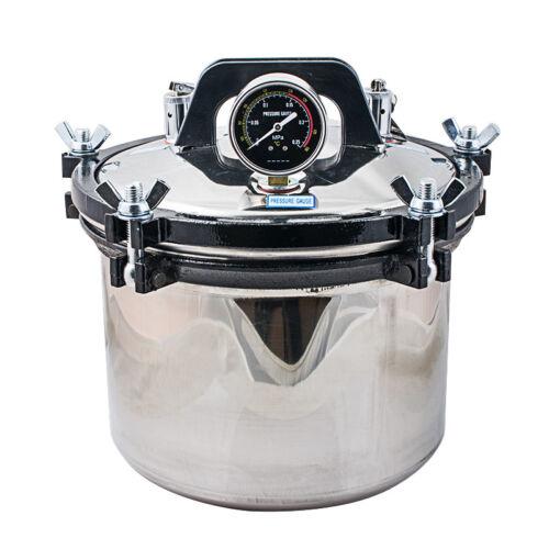 8L Portable Stainless Steel Steam Autoclave Sterilizer Dental Equipment -US Ship