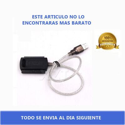 CONVERSOR ADAPTADOR USB A IDE SATA 2,5'' 3.5'' DISCO DURO CABLE HD...