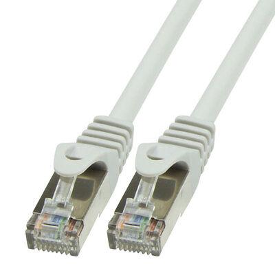 10m CAT.5e Patchkabel Netzwerkkabel FTP grau LAN DSL geschirmt Kabel Cat 5 - Grau, Cat5e Kabel