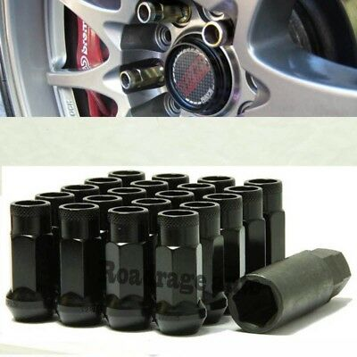 For Toyota Honda Black Racing Wheel Lug Nuts Muteki Rim Stug Screw Thread 12x1.5 ()