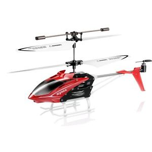 Syma S5 Red Mini RC Helicopter Infrared Radio Control 3 Channel Gyro Anti Shock
