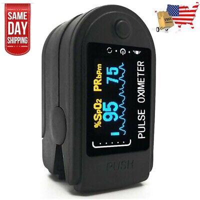 Medical Pulse Fingertip Oximeter Blood Oxygen Heart Rate Monitor Meter Usa Shipp