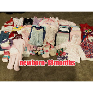 BABY GIRL CLOTHING 175 PIECES!