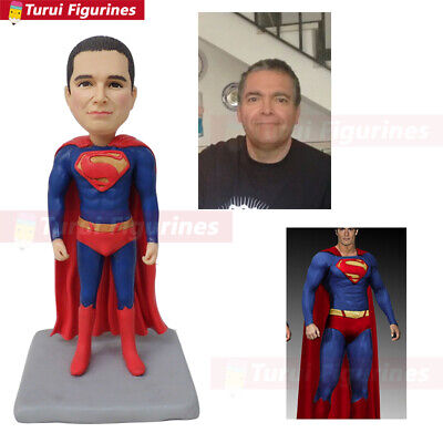 custom bobblehead superman cake topper birthday personalized clay doll handmade