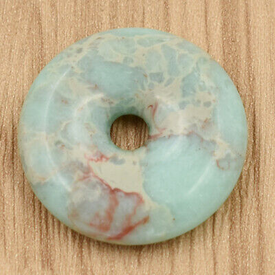 40 Mm Stone Necklace - 40mm Natural Donut Shoushan Stone Gem Stone Pendant Beads for Jewelry Necklace