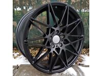 """20"""" Staggered Black Competition wheels for BMW F30 or F31 3 Series Etc"""