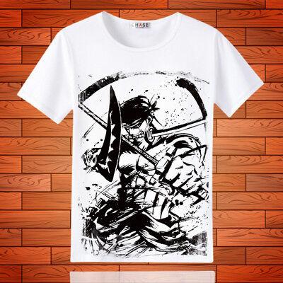 Cosplay One Piece Zoro Anime Manga T-Shirt Kostüme Polyester (Zoro One Piece Kostüm)