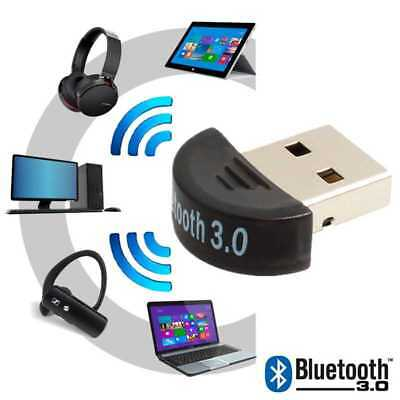 Mini Adaptador USB V3.0 Bluetooth EDR Dongle compatible con Windows Vista 7...