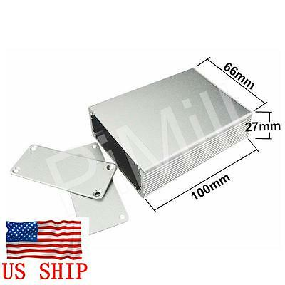 Aluminum Project Box Enclosure Case Electronic Diy 100x66x27mm Silver Us Stock
