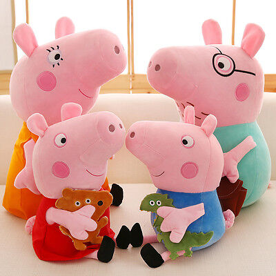 4Pcs Lot Peppa Pig Plush Toys Peppa George Pig Family Toys With Opp Package