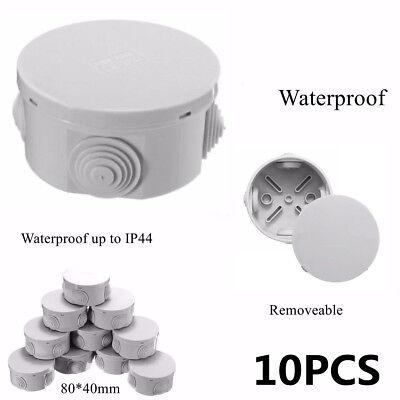 10pcs Junction Box Weatherproof Plastic Electric Enclosure Case Ip44 Waterproof