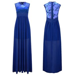 Gorgeous Ladies Navy & Royal Blue Evening Formal Gown, S 10 -New