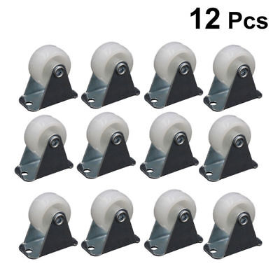 12 Pcs 1 Inch Chair Caster Wheel Furniture Castors For Trolleys Small Machinery