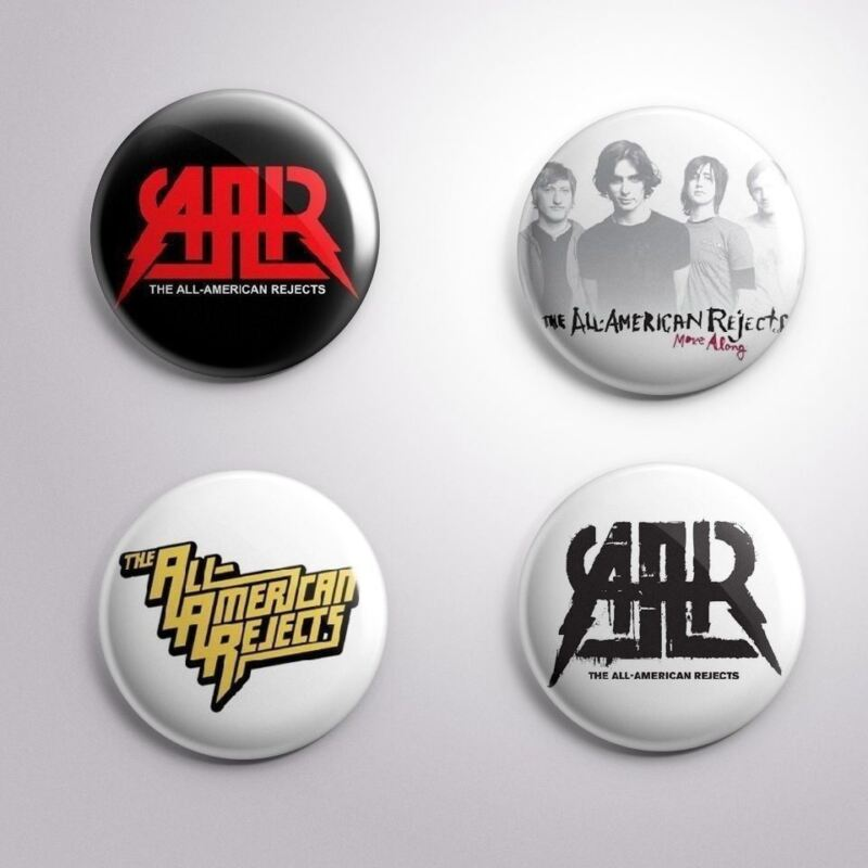 4 ALL-AMERICAN REJECTS - Pinbacks Badge Button 25mm 1