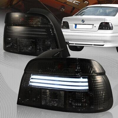 For 1997-2000 BMW E39 528i/540i/M5 LED Chrome Housing Smoke Lens Tail Lights
