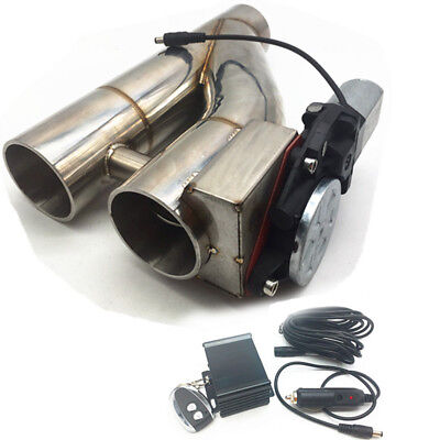 """Universal 2.5""""Electric Exhaust Downpipe Cutout E-Cut Out Dual-Valve Remote"""