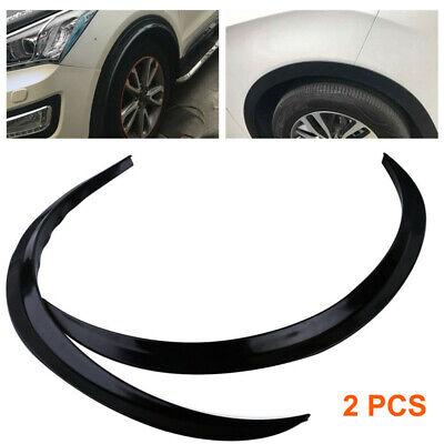 2x Car Auto Fender Flares Flexible Wheel Eyebrow Arch Trims Protector Universal