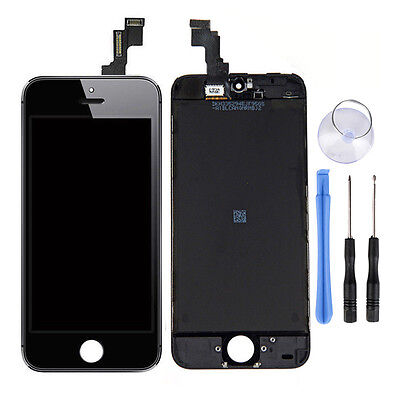Black Touch Digitizer LCD Screen Assembly for Apple iPhone 5C Replacement OEM YO on Rummage