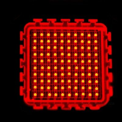 100w Watt Red High Power Led Light Lamp Plant Grow Growth 630nm 5000lm 18v Diy