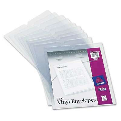 Avery Top-load Clear Vinyl Envelopes Wthumb Notch 9 X 12 Cl 077711748040