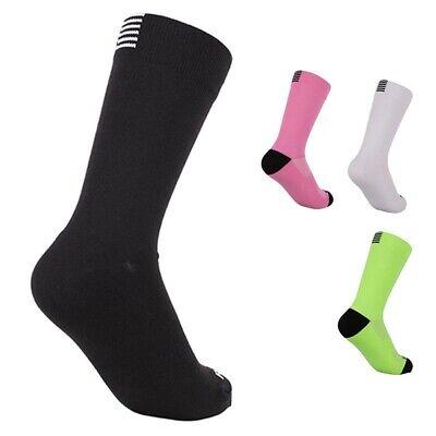 Men Women Sport Socks Outdoor Bike Cycling Long Tube Socks W