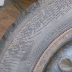 4 175-65-14 studable winter tires on rims
