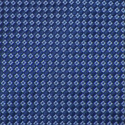 BREUER Mens Navy Blue CHECKERED Handmade Woven Silk Tie Italy NWT Blue Checkered Woven Silk