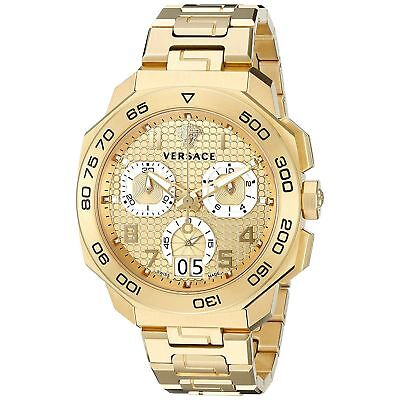 Versace VQC040015 Men's Dylos Gold-Tone Quartz Watch