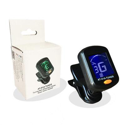 LCD Clip-On Elettronico Digitale Accordatore per Chitarra per Cromatica Basso