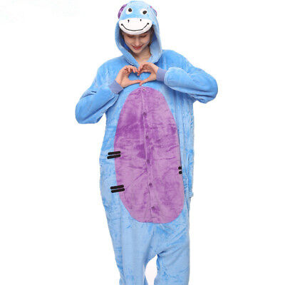 Unicorn Onesie0 Adult  Unisex Kigurumi Cosplay Eeyore donkey Costume Pajamas*