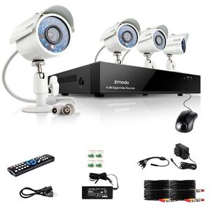 8 CH Network DVR 700TVL High Resolution Outdoor IR-Cut CCTV Security Camera Kit